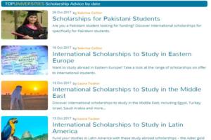 Scholarship Advice