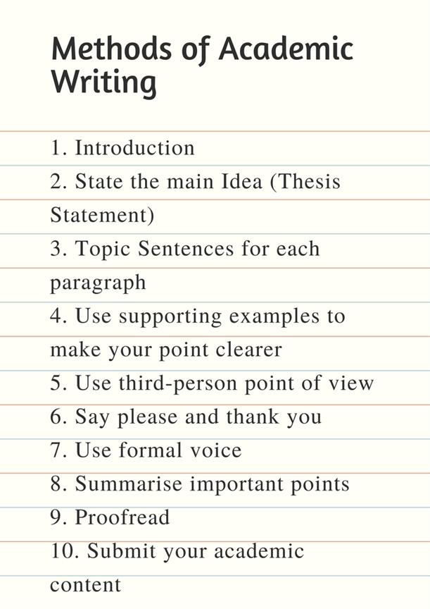 Methods of Academic Writing
