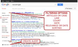 Google scholar searches