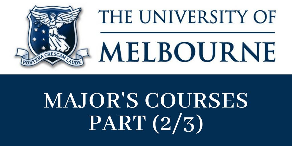 Major's Courses In Melbourne University