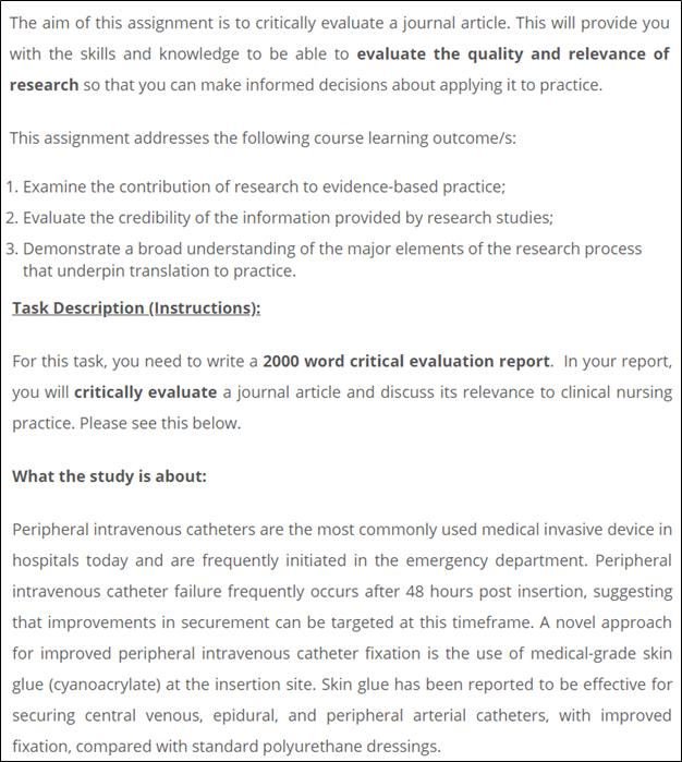 IDEAL Framework Sample