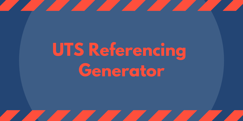 UTS Referencing Generator And Student Problems