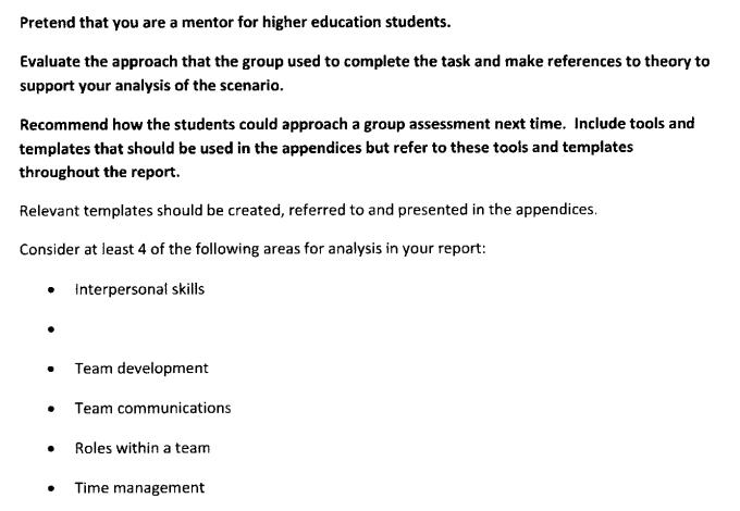 Assessment Answer