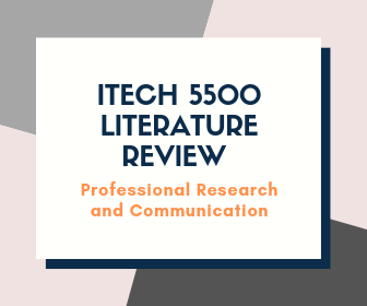 Nail that Itech 5500 Professional Research and Communication Literature Review!
