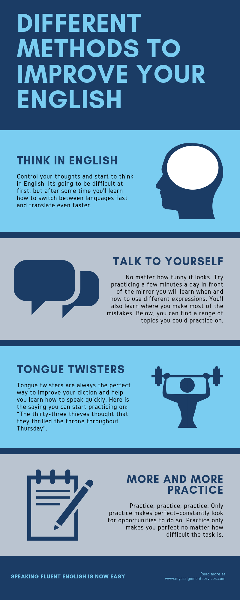 DIFFERENT METHODS TO IMPROVE YOUR ENGLISH