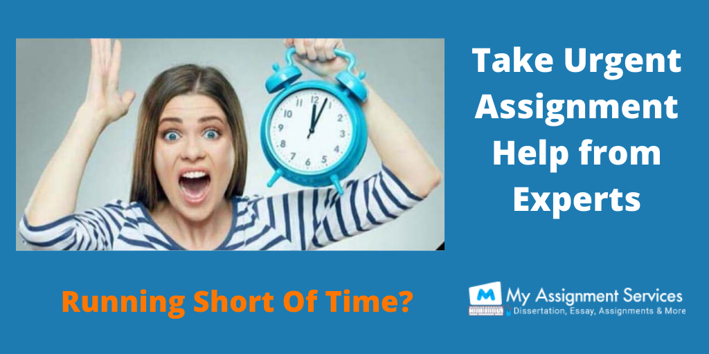 Running Short Of Time? Take Urgent Assignment Help from Experts