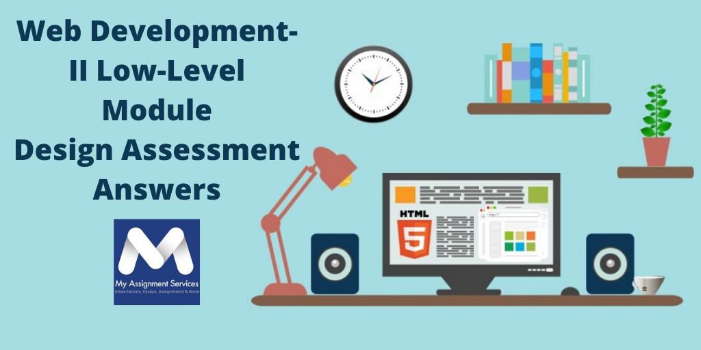 CSC10217 Web Development-II Low-Level Module Design Assessment Answers
