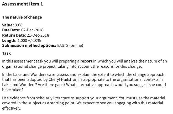Assessment help 1