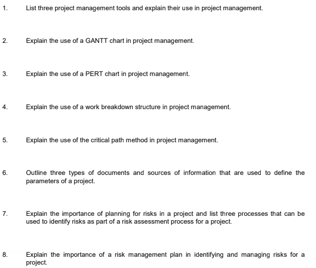 BSBPMG522 Assessment 1 Written Questions