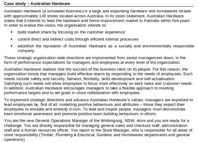 case Study - Australian Hardware