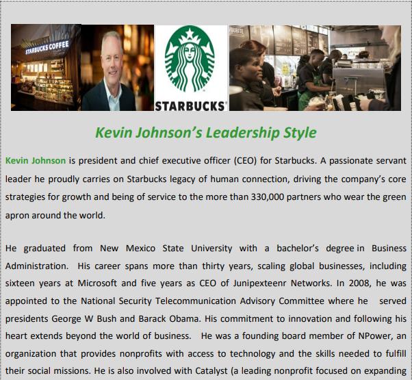 Kevin Johnson leadership style case study