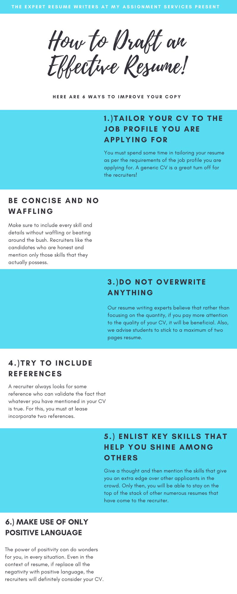 6 tips for an effective CV