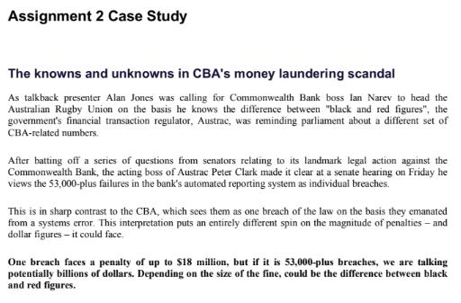 CBA's money laundering scam