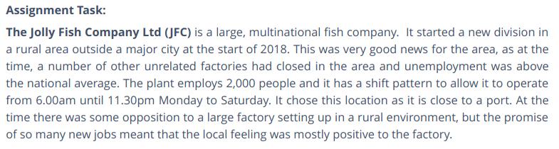 The Jolly Fish Company (JFC)