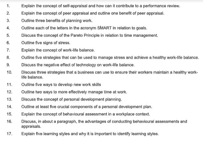 manage professional work priorities