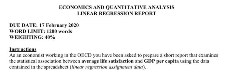 quantitative analysis in economics