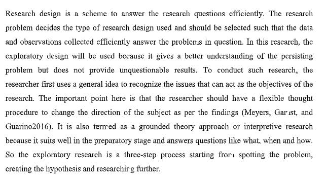 research design sample
