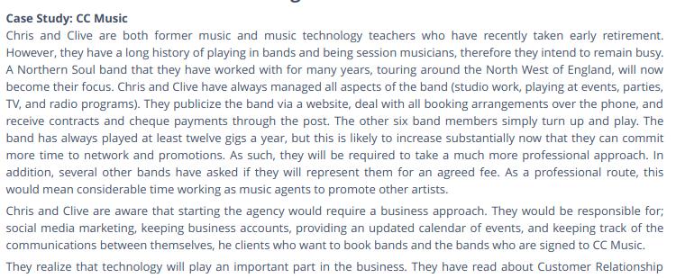 CC MUSIC CASE STUDY