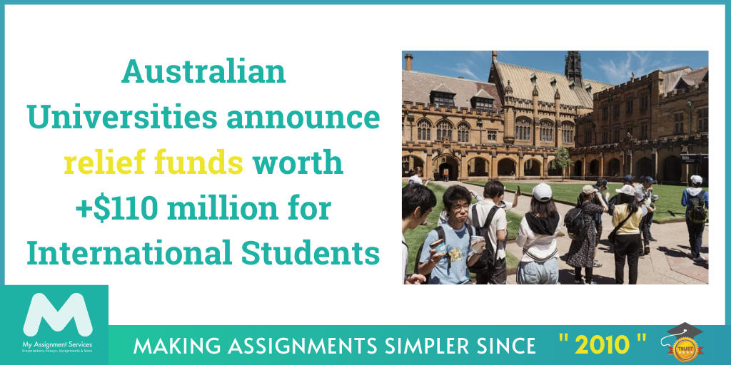 Australian Universities Announce Relief Funds Worth +$110 Million for International Students