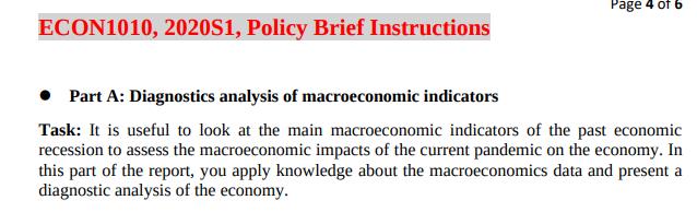 Diagnostic analysis of macroeconomics indicators