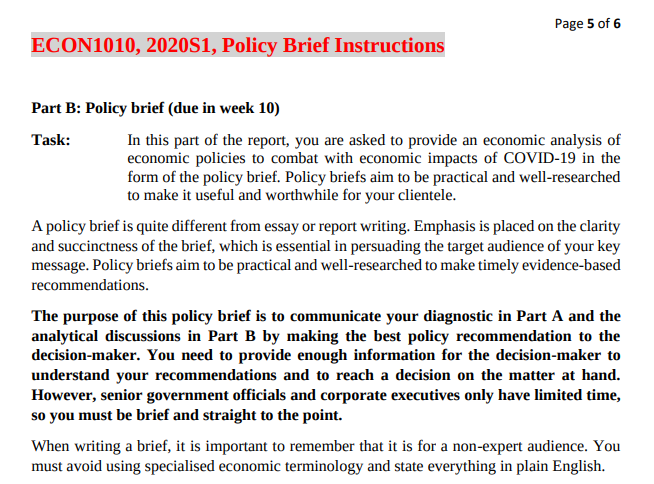 policy brief of pandemic COVID-19