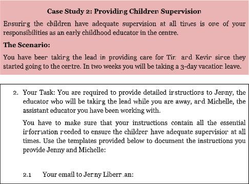 providing children supervision case study