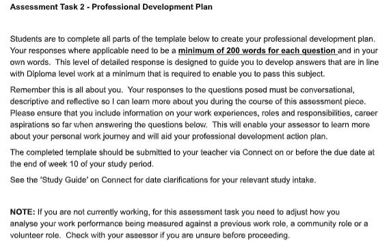 BSBWOR501 professional development plan