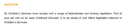 Federal and state legislation