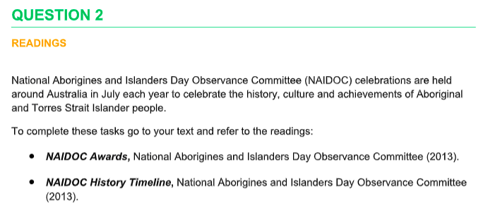 National Aborigines and Islanders Day Observance Committee (NAIDOC)