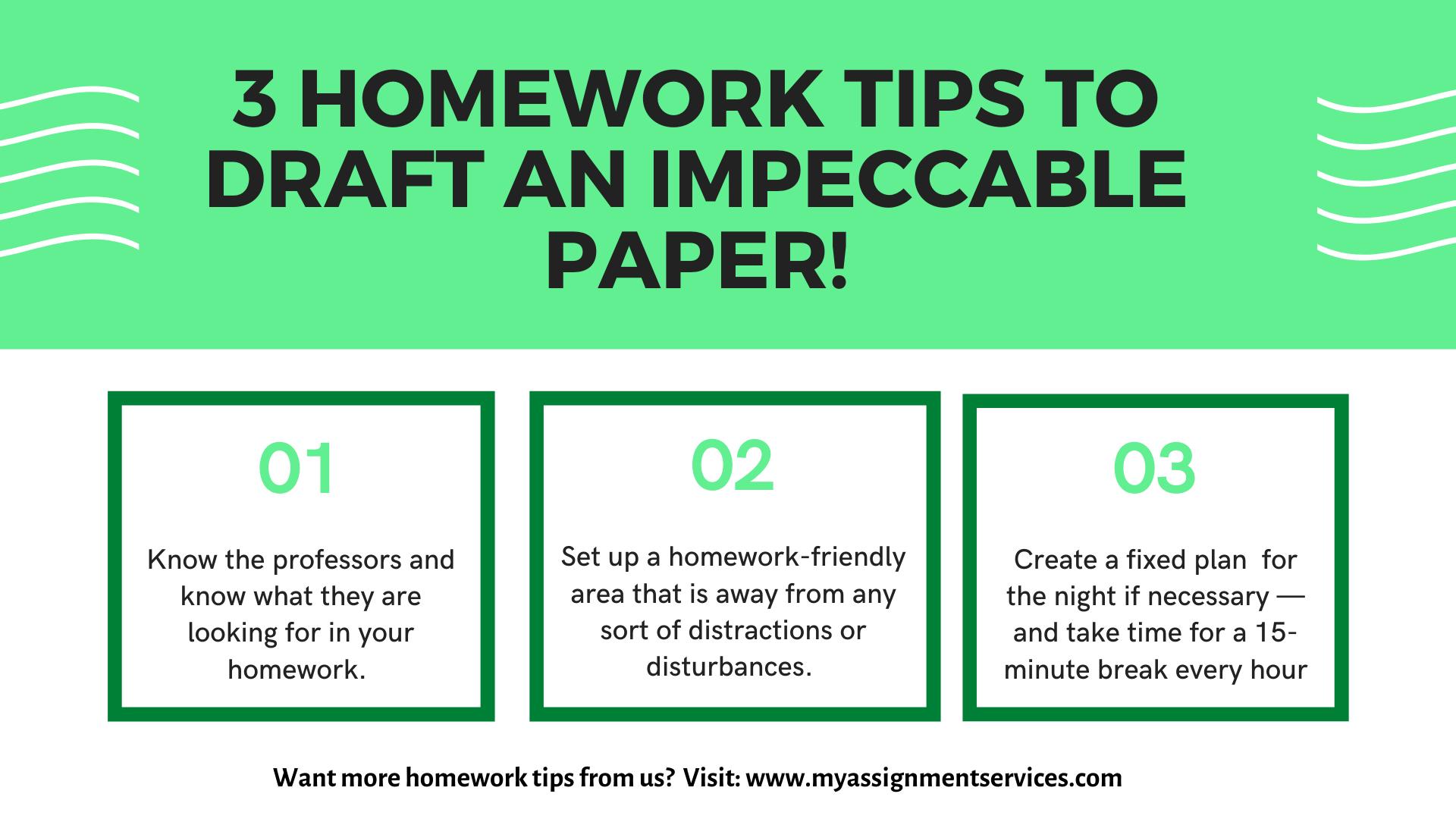 3 homework tips