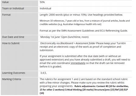 NUM2308 assessment