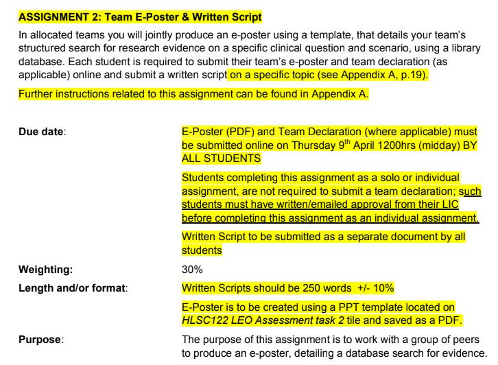 Team e poster written expert