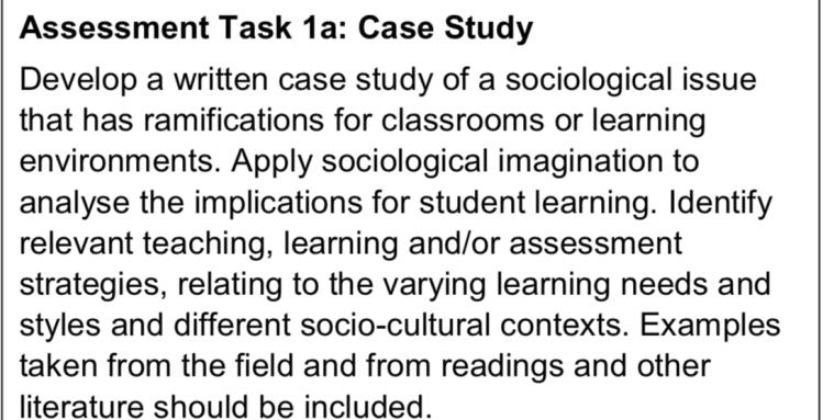 Case Study Sociological Issue