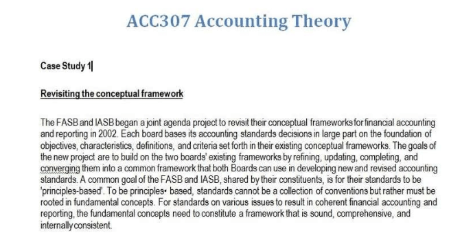 Acc307 accounting theories assignment help