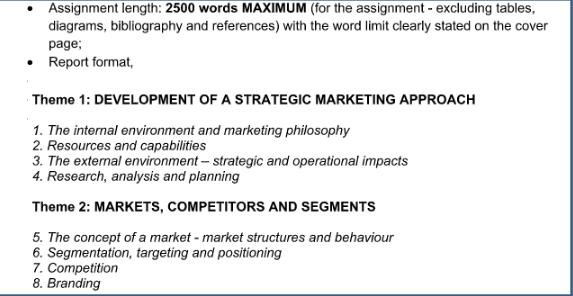 营销管理任务书