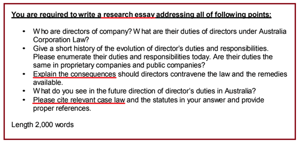 Assignments on Evolution and Future of Directors' Duties