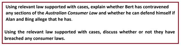 Australian Consumer Law Assignment
