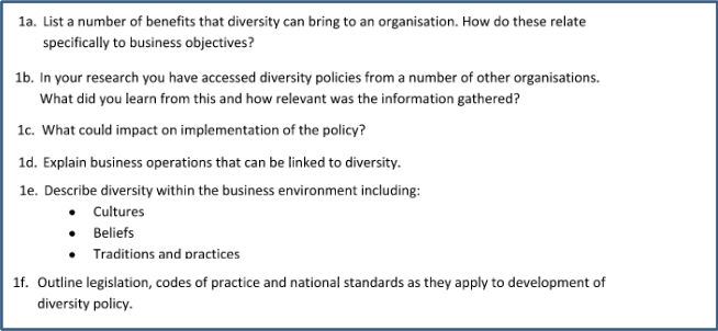 Diversity Management Assignment Sample