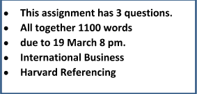 International Business Question & Answer