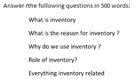 Assignment on Inventory management
