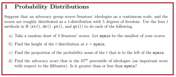 Statistical Determination Using Probability Distribution