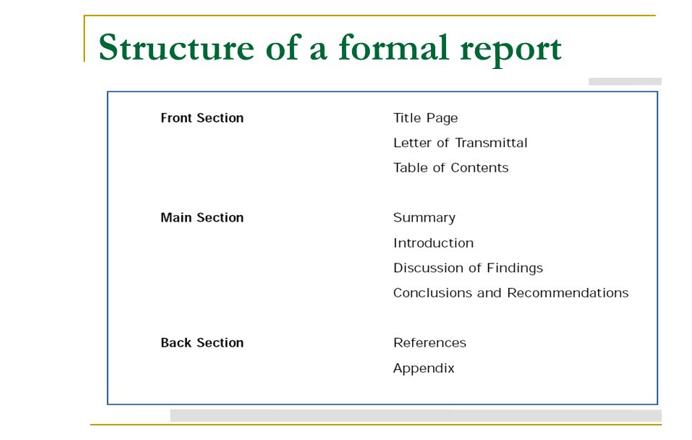 报告的结构