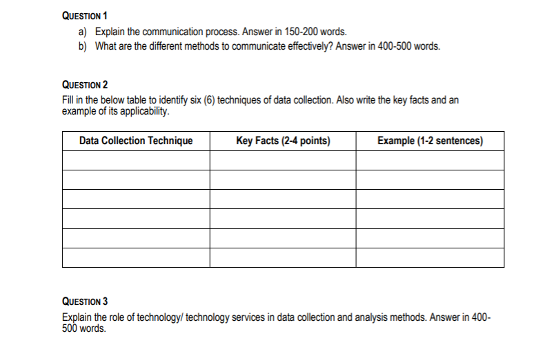 Applied Research Assignment Sample