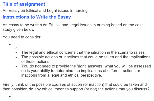 Essay on Ethical and Legal Issues In Nursing