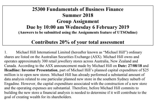 Financial Markets Assignment Services