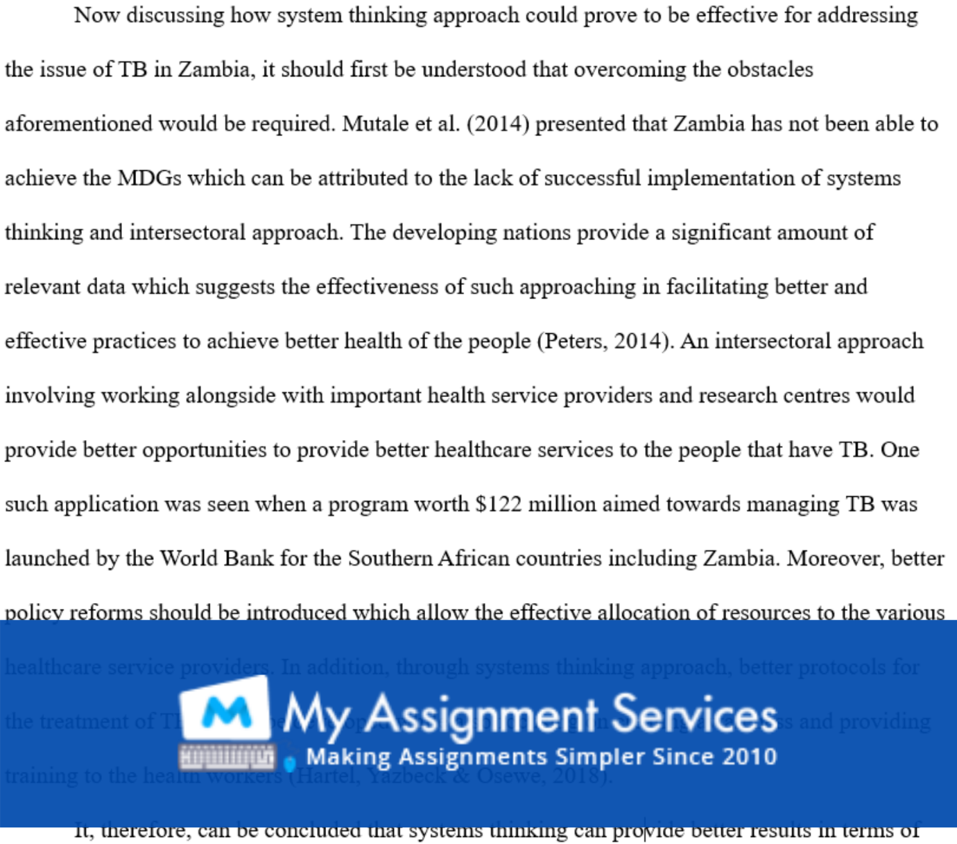 Health Systems and Economics Assignment Answers