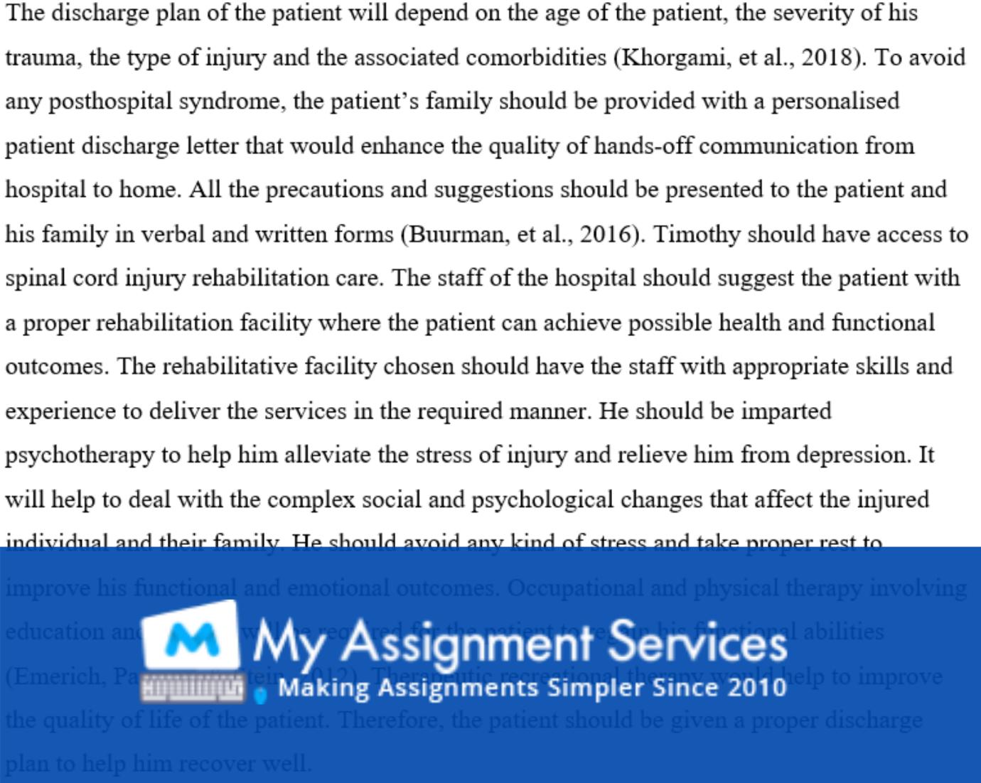 Neurological and Neurosurgical Assignment Solution
