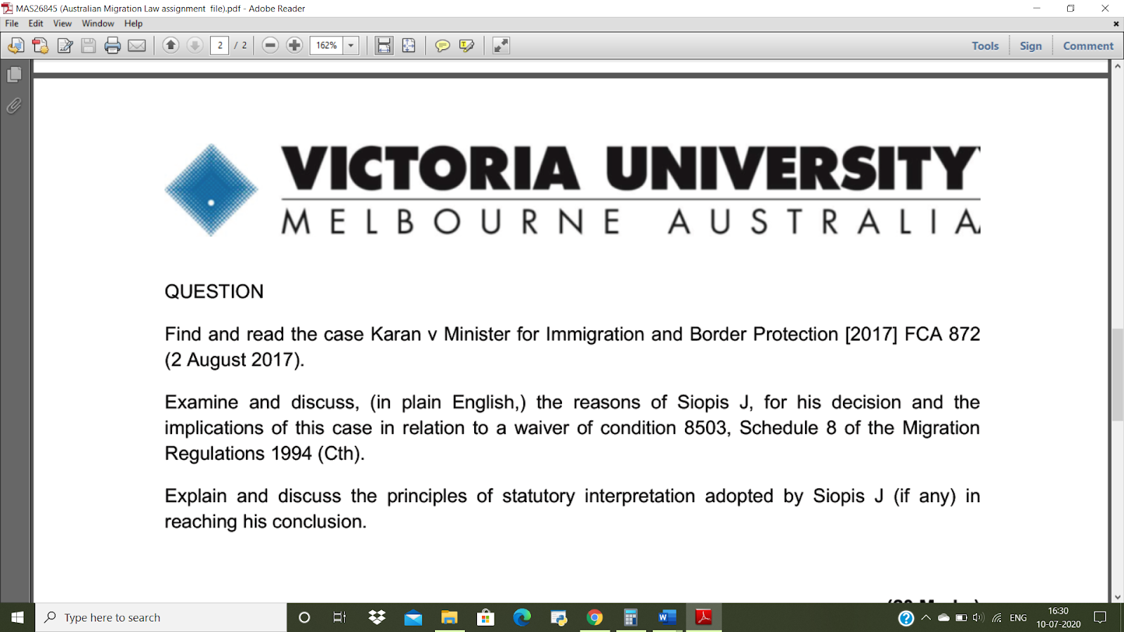 Australian Migration Law Assignment Services