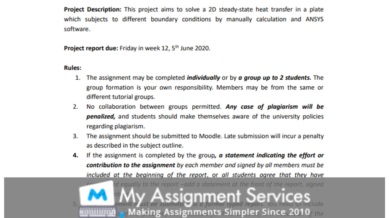 Element Analysis Assignment Solution