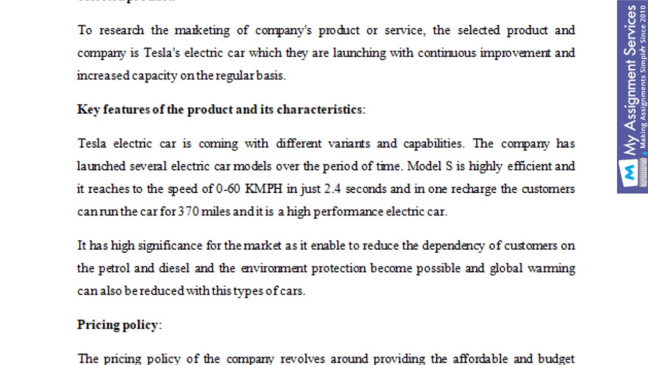 Business Marketing Assessment
